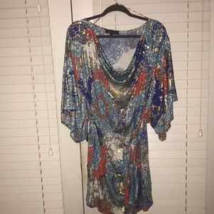 Fashion to Figure cowl neck dress, 3X
